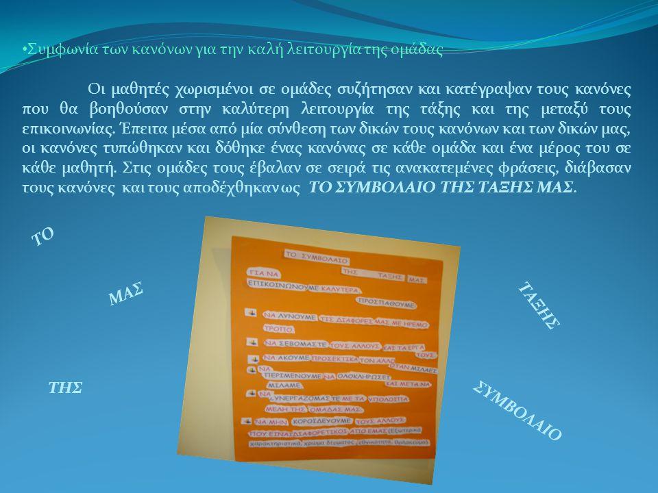 Συμφωνία των κανόνων για την καλή λειτουργία της ομάδας