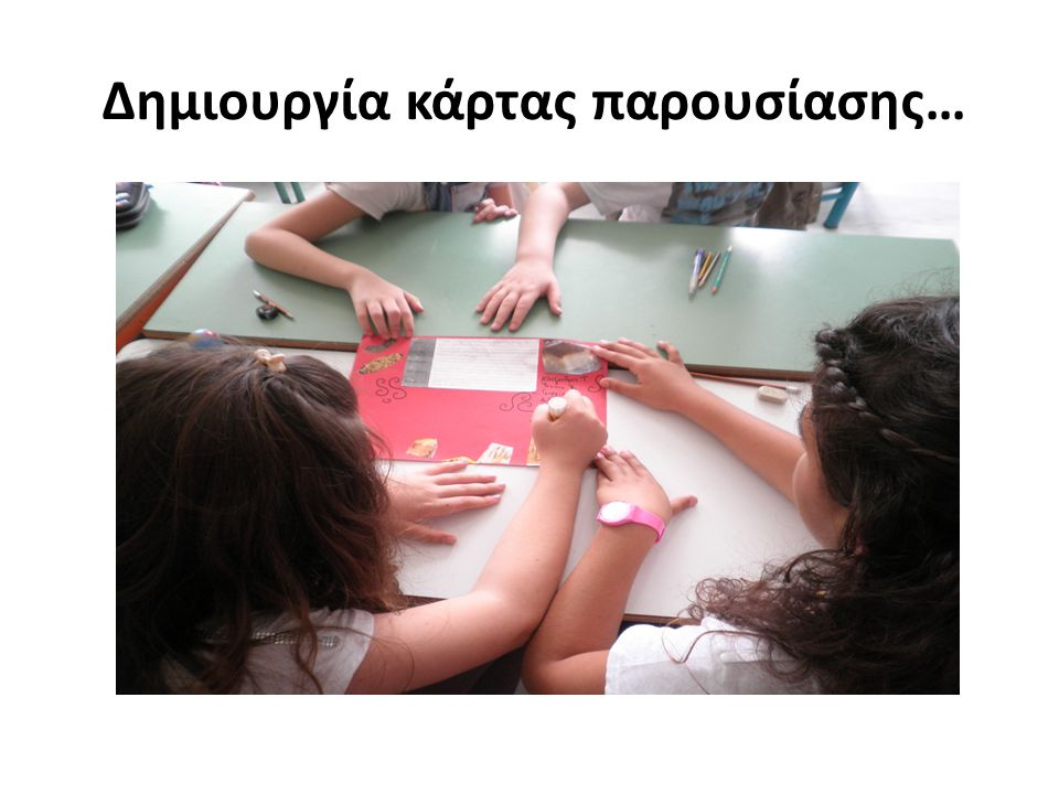 Δημιουργία κάρτας παρουσίασης…