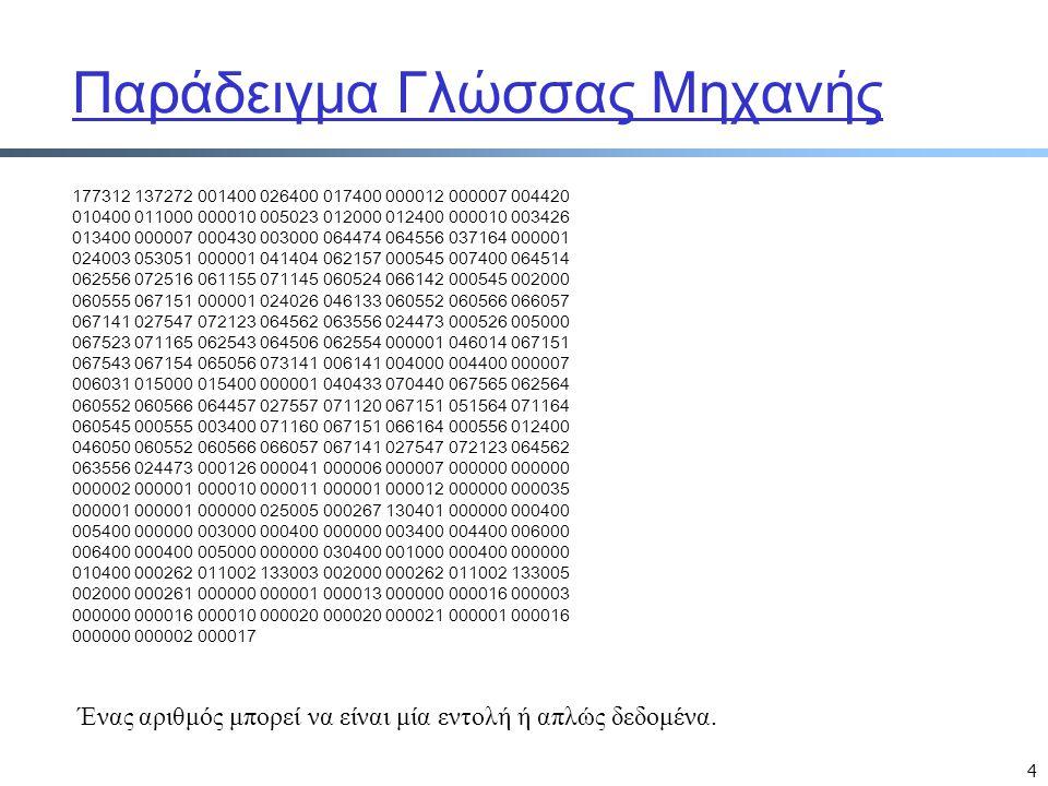 Παράδειγμα Γλώσσας Μηχανής