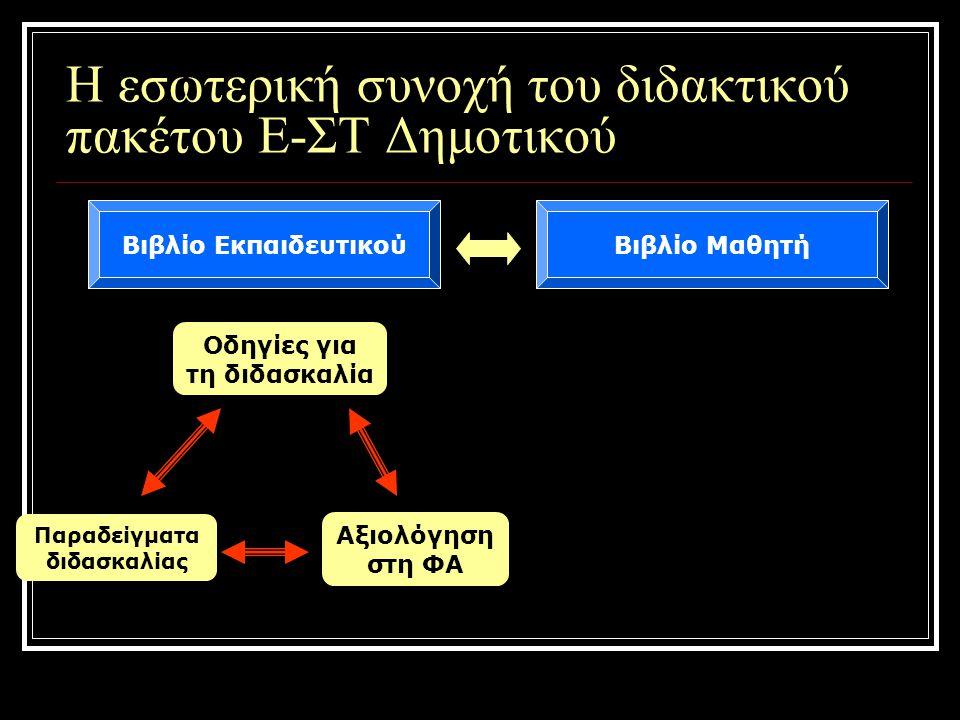 Η εσωτερική συνοχή του διδακτικού πακέτου Ε-ΣΤ Δημοτικού