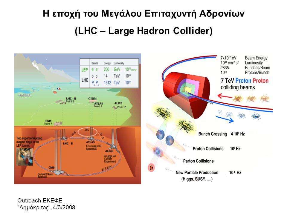 Η εποχή του Μεγάλου Επιταχυντή Αδρονίων (LHC – Large Hadron Collider)