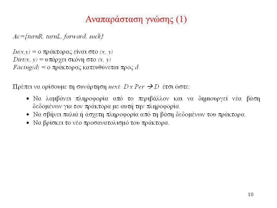 Αναπαράσταση γνώσης (1)