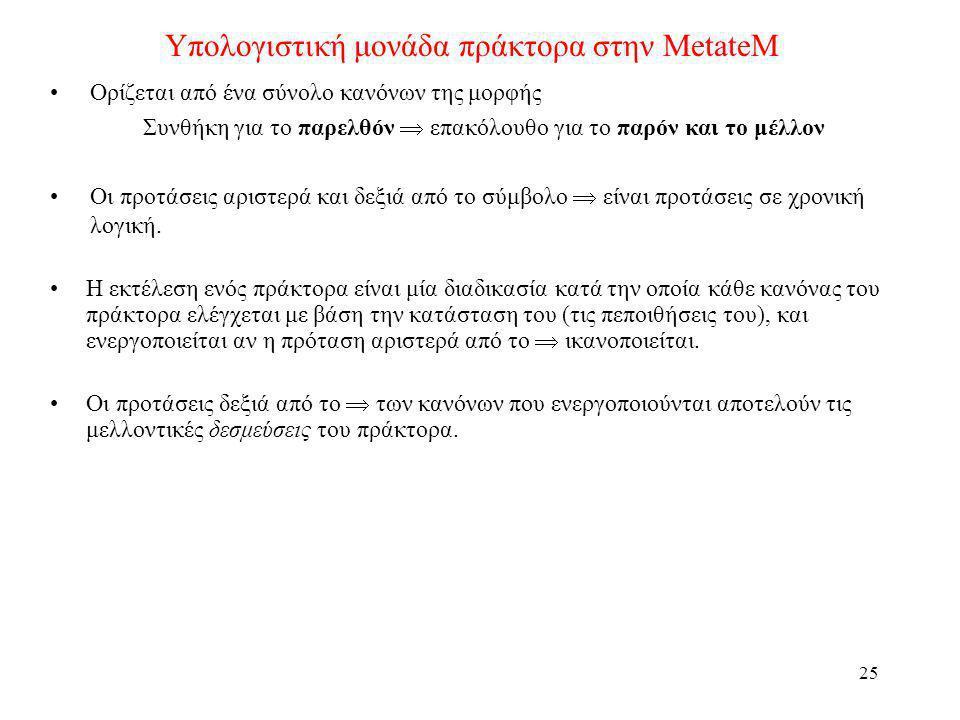 Υπολογιστική μονάδα πράκτορα στην MetateM