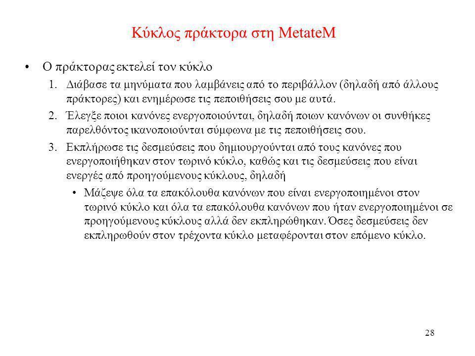 Κύκλος πράκτορα στη MetateM
