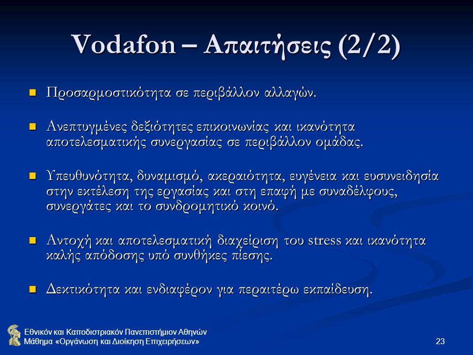 Vodafon – Απαιτήσεις (2/2)