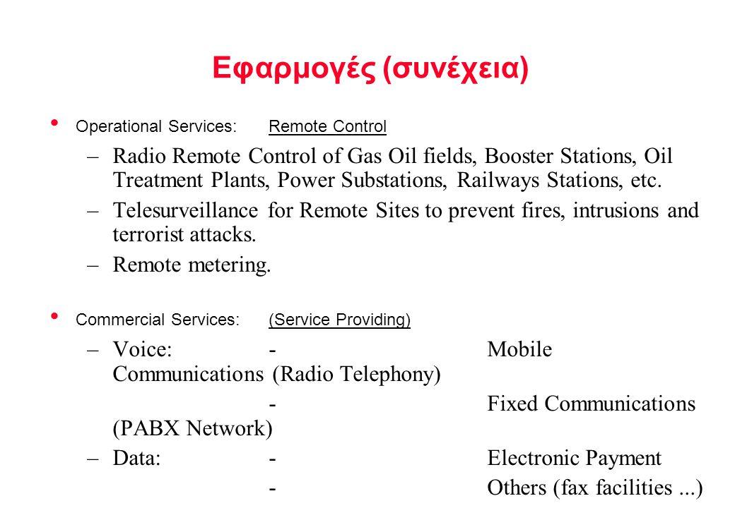 Εφαρμογές (συνέχεια) Operational Services: Remote Control.