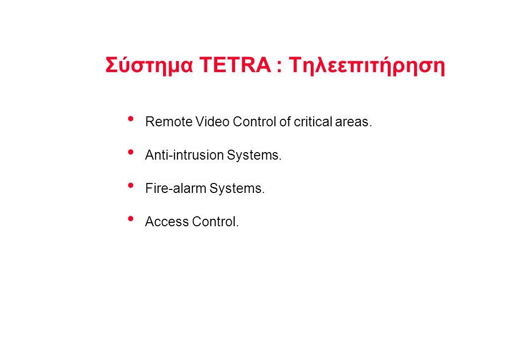 Σύστημα TETRA : Τηλεεπιτήρηση