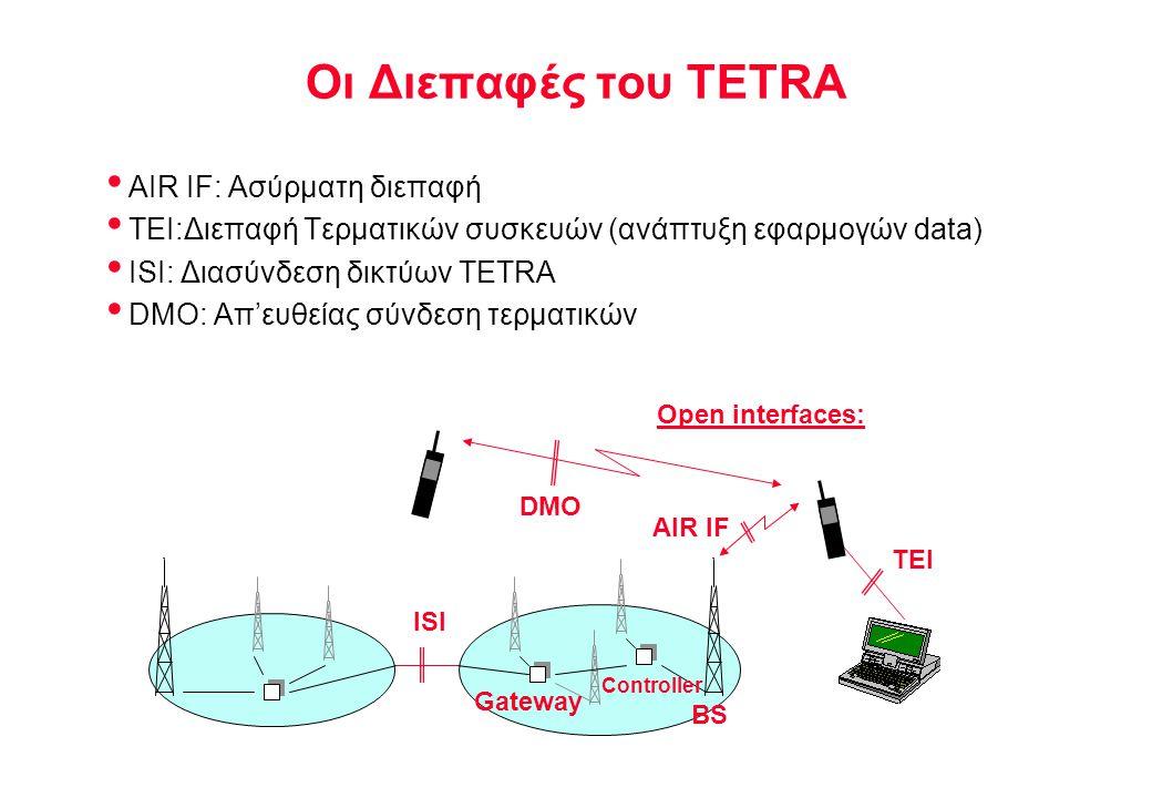 Οι Διεπαφές του TETRA AIR IF: Ασύρματη διεπαφή