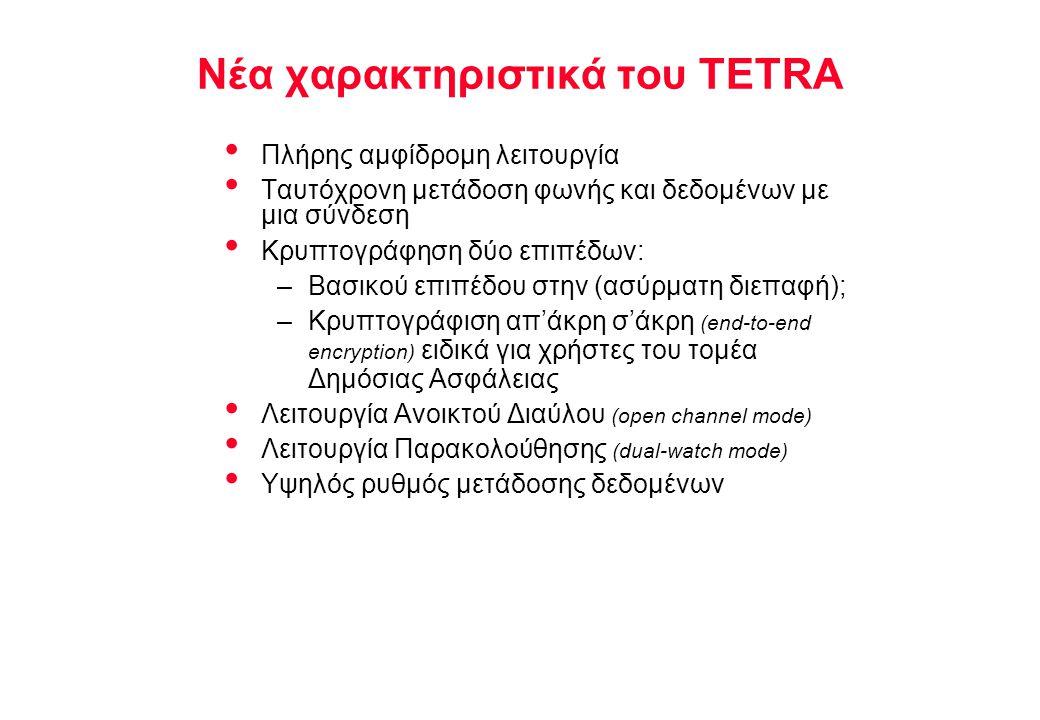 Νέα χαρακτηριστικά του TETRA