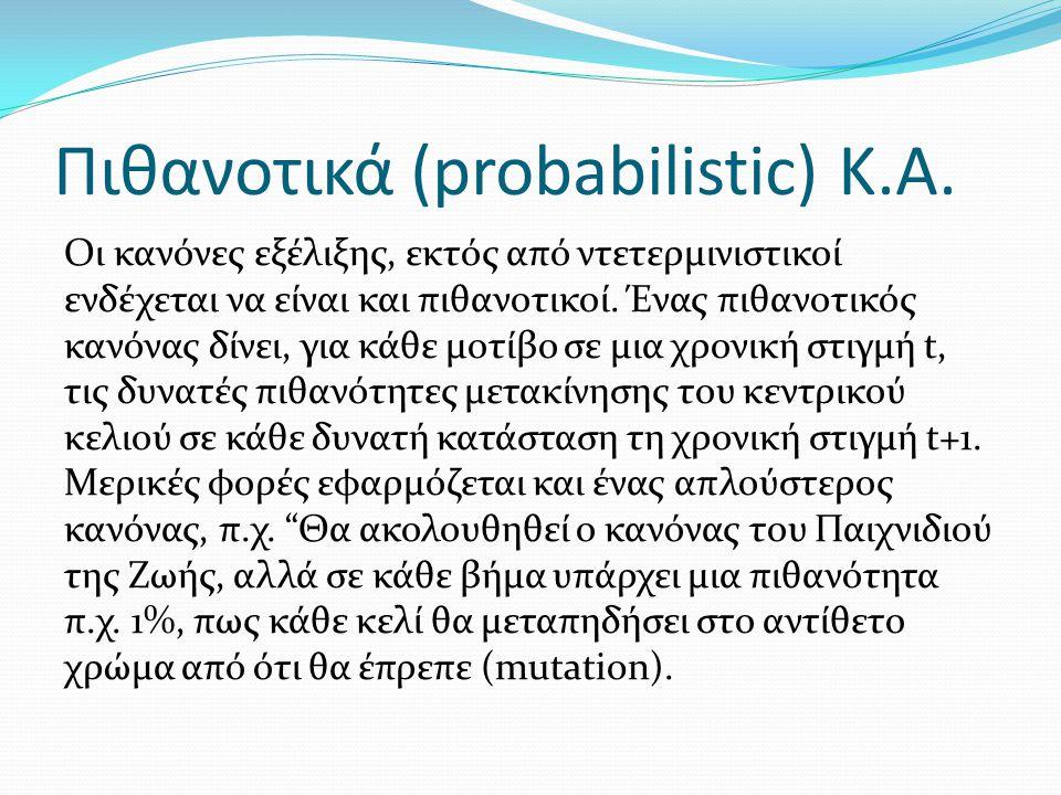 Πιθανοτικά (probabilistic) Κ.Α.