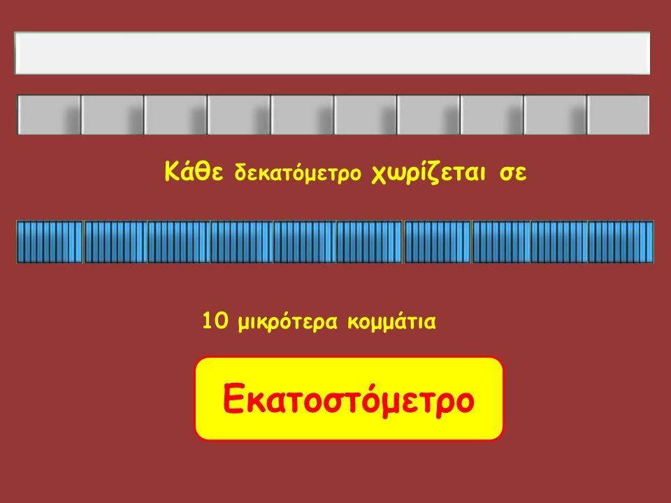 Κάθε δεκατόμετρο χωρίζεται σε