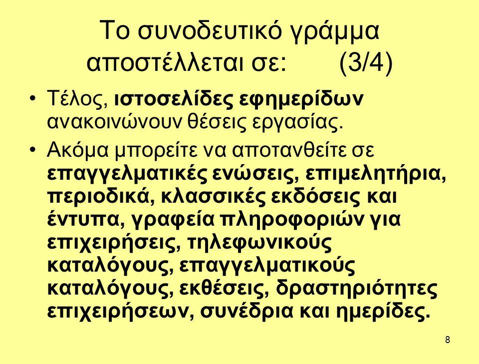 Το συνοδευτικό γράμμα αποστέλλεται σε: (3/4)