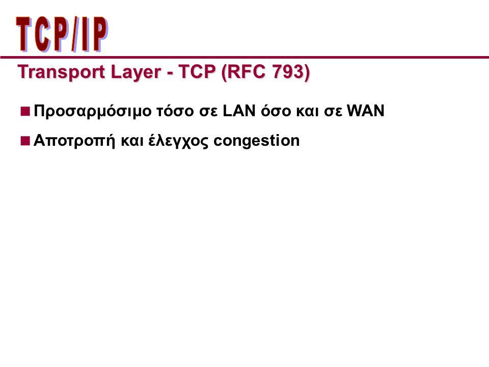 ΤCP/IP Transport Layer - TCP (RFC 793)