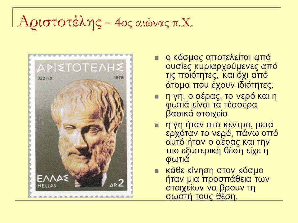 Αριστοτέλης - 4ος αιώνας π.Χ.