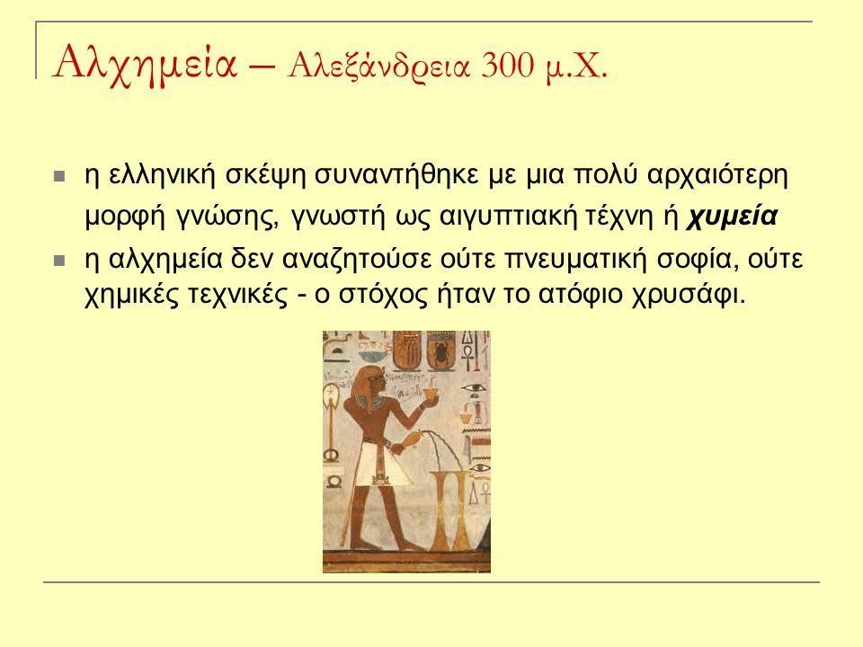 Αλχημεία – Αλεξάνδρεια 300 μ.Χ.