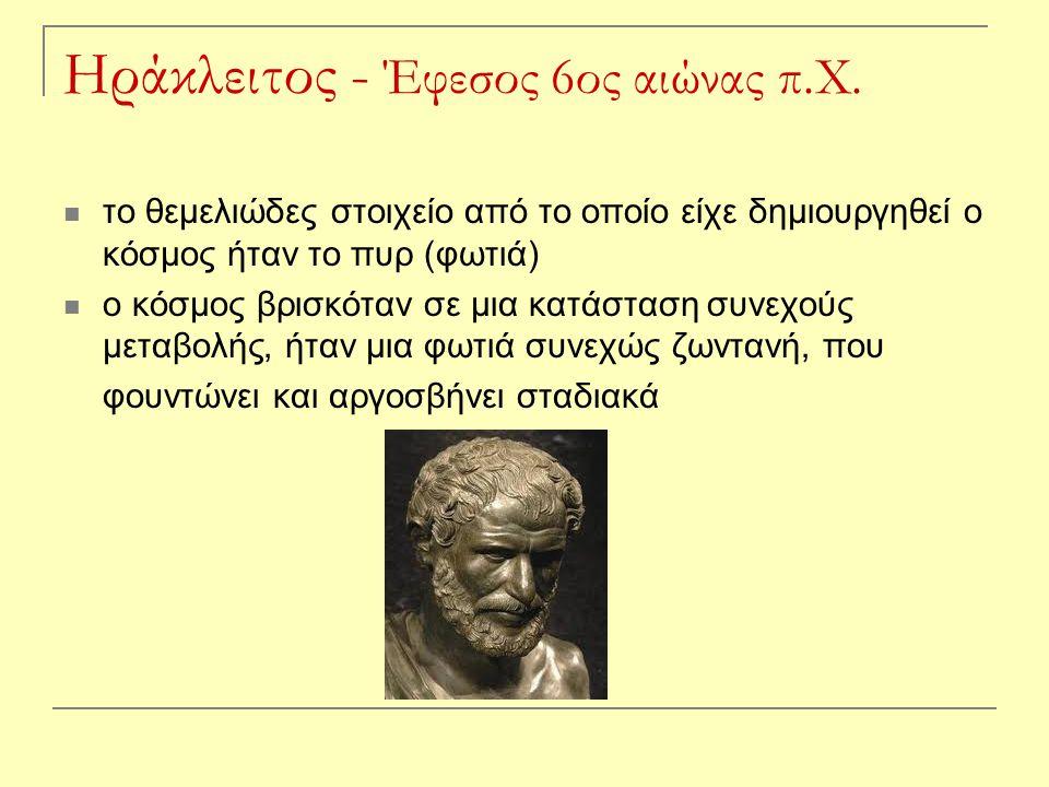 Ηράκλειτος - Έφεσος 6ος αιώνας π.Χ.