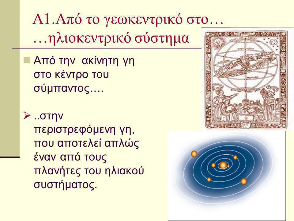 Α1.Από το γεωκεντρικό στο… …ηλιοκεντρικό σύστημα