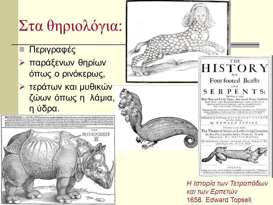 Στα θηριολόγια: Περιγραφές παράξενων θηρίων όπως ο ρινόκερως,