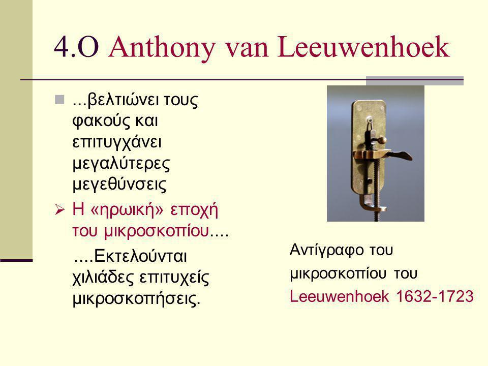 4.Ο Anthony van Leeuwenhoek