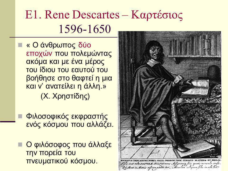 Ε1. Rene Descartes – Καρτέσιος 1596-1650