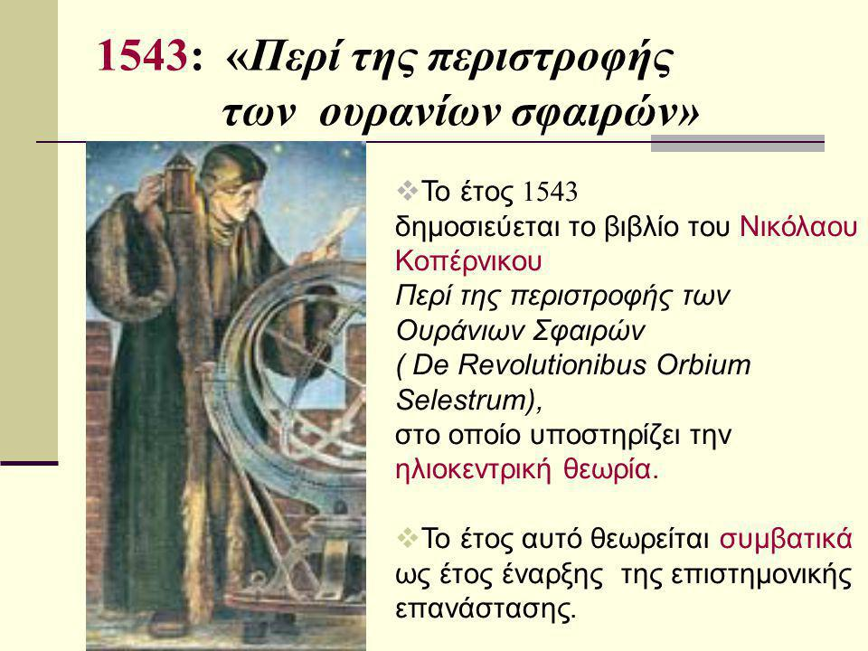 1543: «Περί της περιστροφής των ουρανίων σφαιρών»