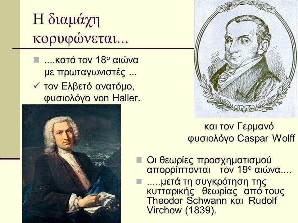Η διαμάχη κορυφώνεται... ....κατά τον 18ο αιώνα με πρωταγωνιστές ...