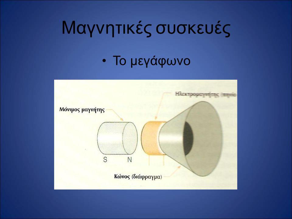 Μαγνητικές συσκευές Το μεγάφωνο