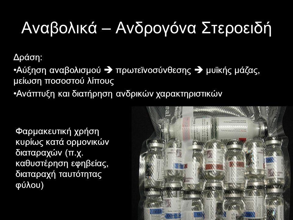 Αναβολικά – Ανδρογόνα Στεροειδή