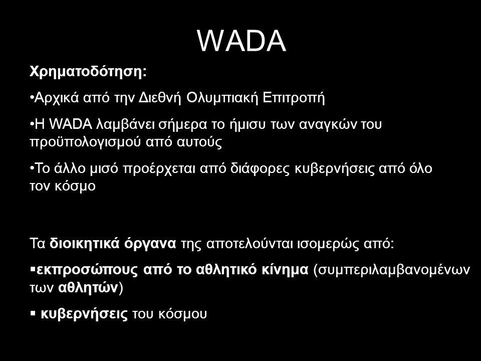 WADA Χρηματοδότηση: Αρχικά από την Διεθνή Ολυμπιακή Επιτροπή