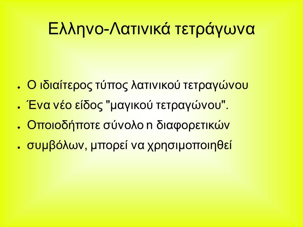 Ελληνο-Λατινικά τετράγωνα