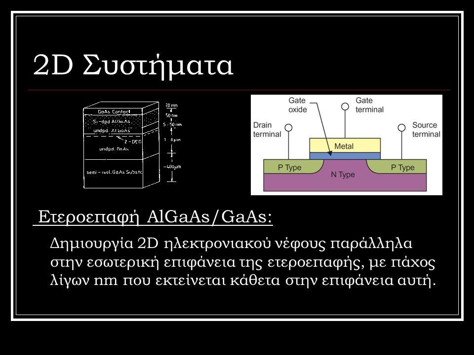 2D Συστήματα Ετεροεπαφή AlGaAs/GaAs: