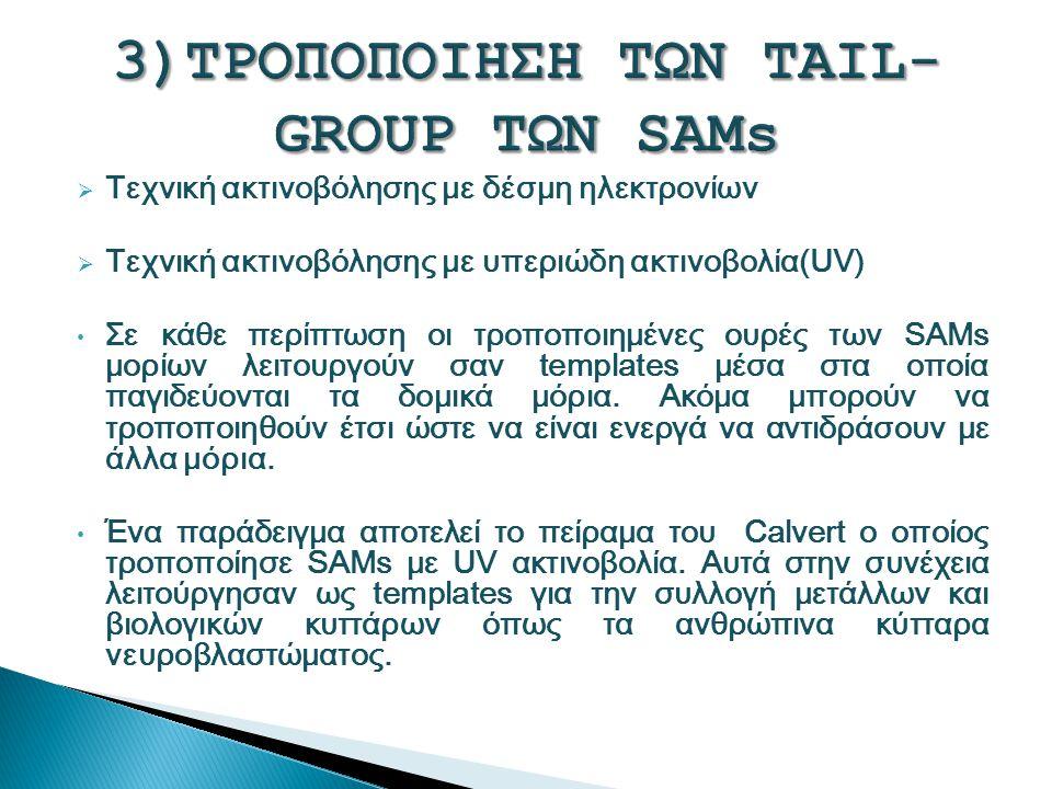 3)ΤΡΟΠΟΠΟΙΗΣΗ ΤΩΝ TAIL-GROUP ΤΩΝ SAMs