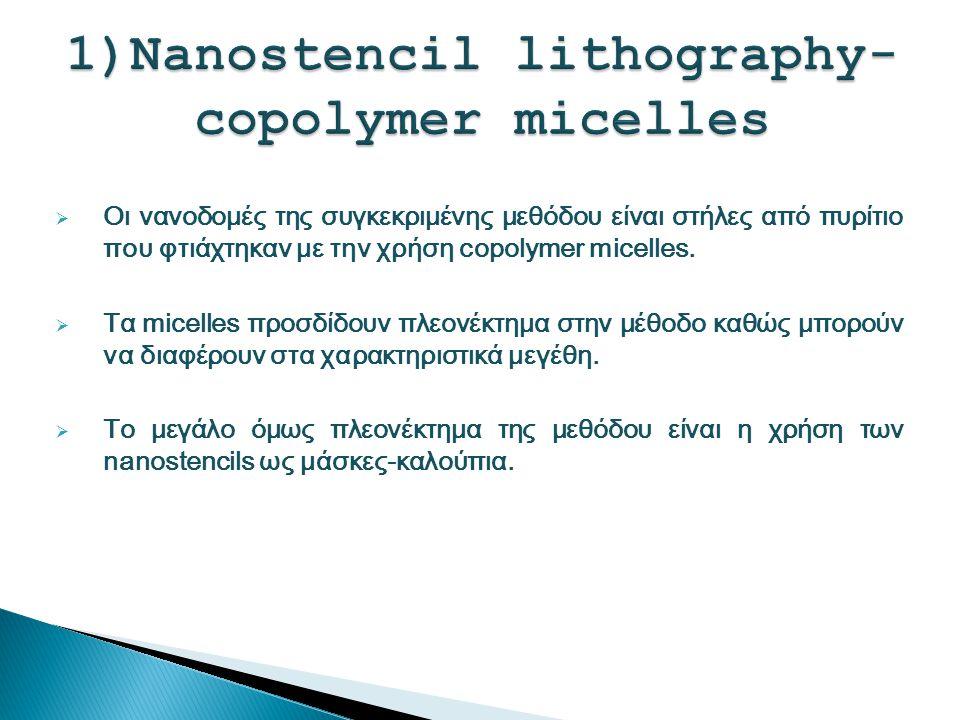 1)Nanostencil lithography- copolymer micelles