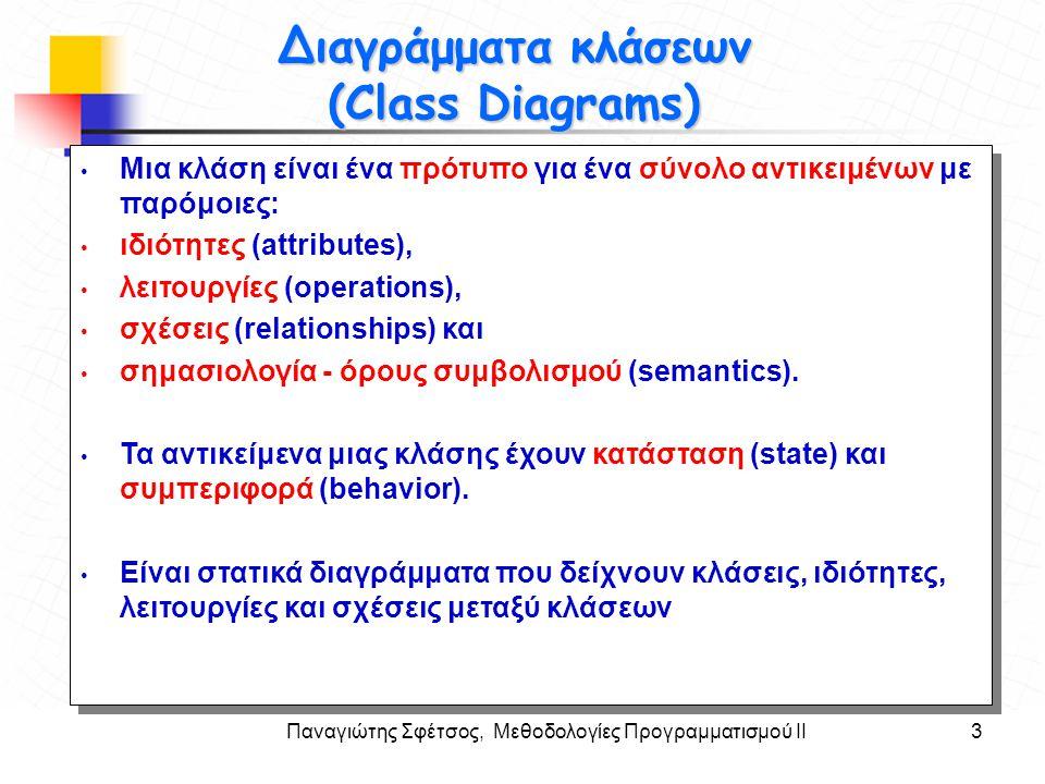 Διαγράμματα κλάσεων (Class Diagrams)