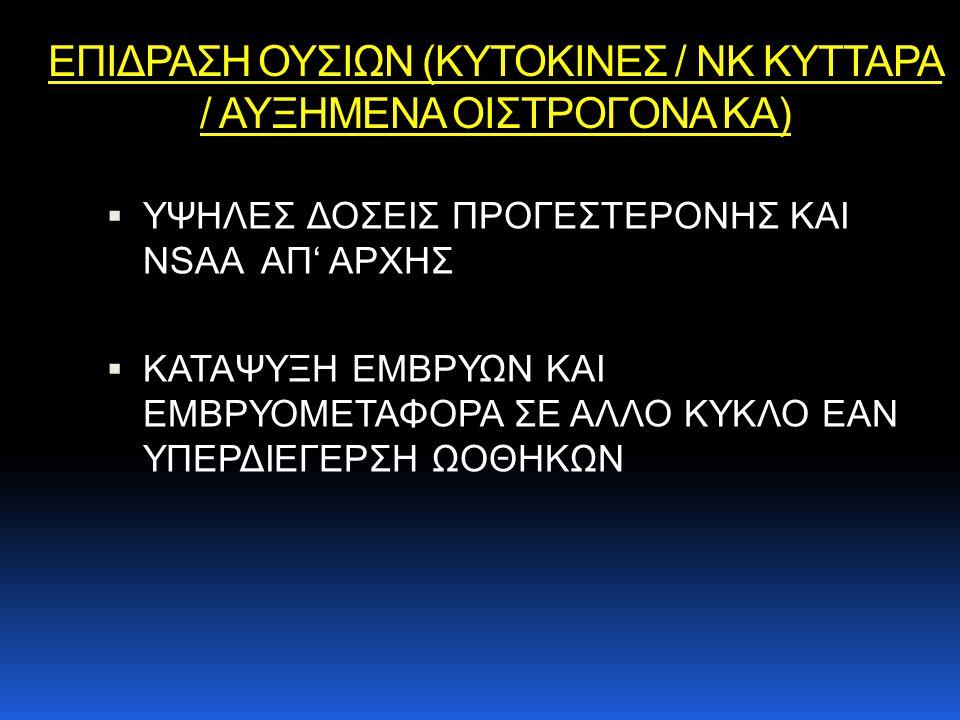 ΕΠΙΔΡΑΣΗ ΟΥΣΙΩΝ (ΚΥΤΟΚΙΝΕΣ / NK ΚΥΤΤΑΡΑ / ΑΥΞΗΜΕΝΑ ΟΙΣΤΡΟΓΟΝΑ ΚΑ)