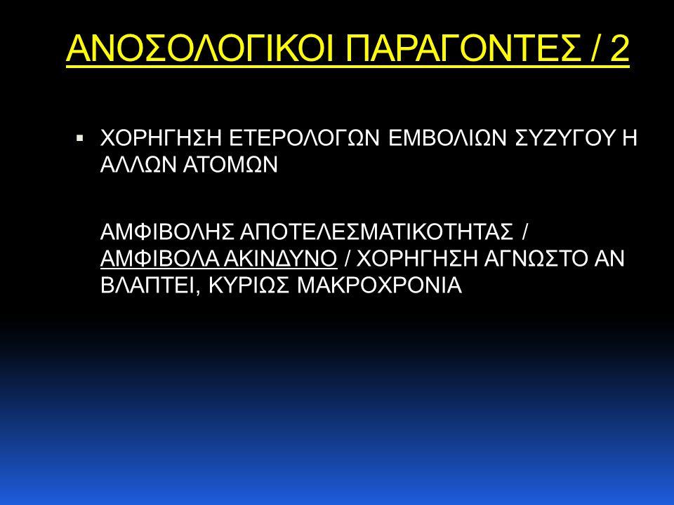 ΑΝΟΣΟΛΟΓΙΚΟΙ ΠΑΡΑΓΟΝΤΕΣ / 2