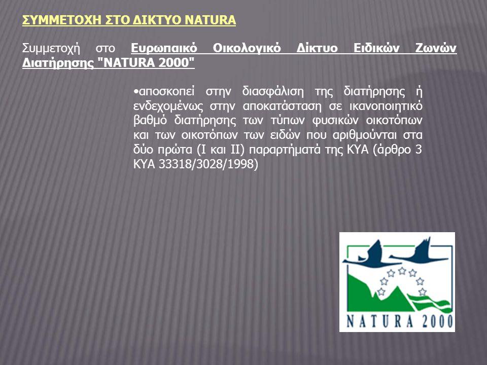ΣΥΜΜΕΤΟΧΗ ΣΤΟ ΔΙΚΤΥΟ NATURA