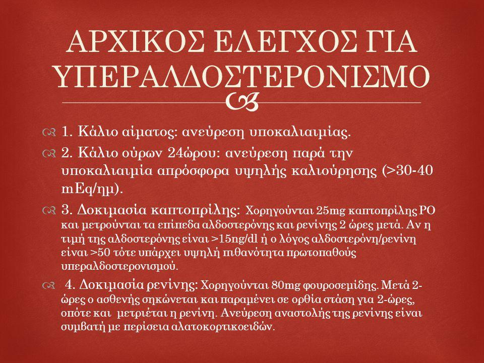 ΑΡΧΙΚΟΣ ΕΛΕΓΧΟΣ ΓΙΑ ΥΠΕΡΑΛΔΟΣΤΕΡΟΝΙΣΜΟ