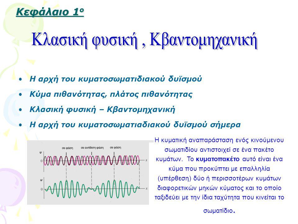 Κλασική φυσική , Kβαντομηχανική