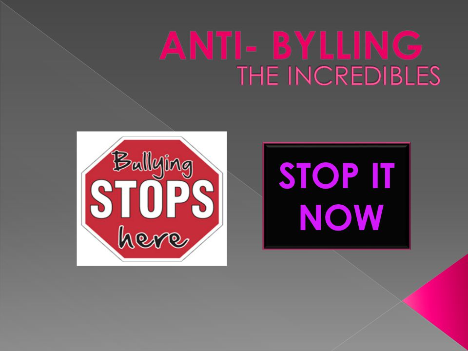 ANTI- BYLLING THE INCREDIBLES STOP IT NOW