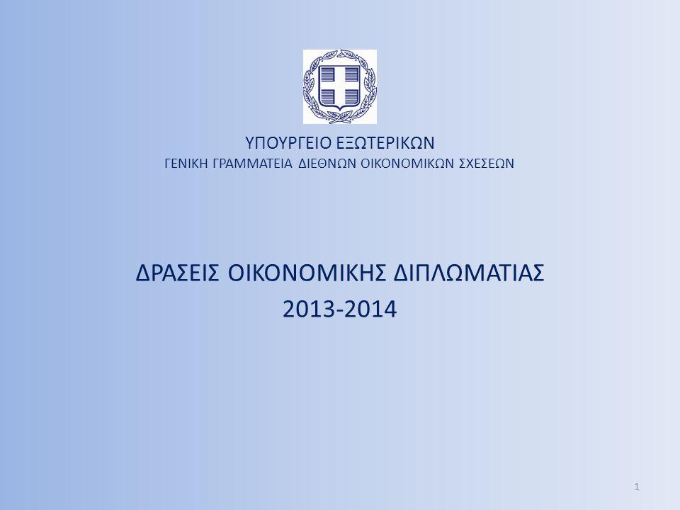 ΔΡΑΣΕΙΣ ΟΙΚΟΝΟΜΙΚΗΣ ΔΙΠΛΩΜΑΤΙΑΣ 2013-2014