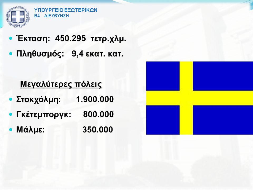 Έκταση: 450.295 τετρ.χλμ. Πληθυσμός: 9,4 εκατ. κατ. Μεγαλύτερες πόλεις