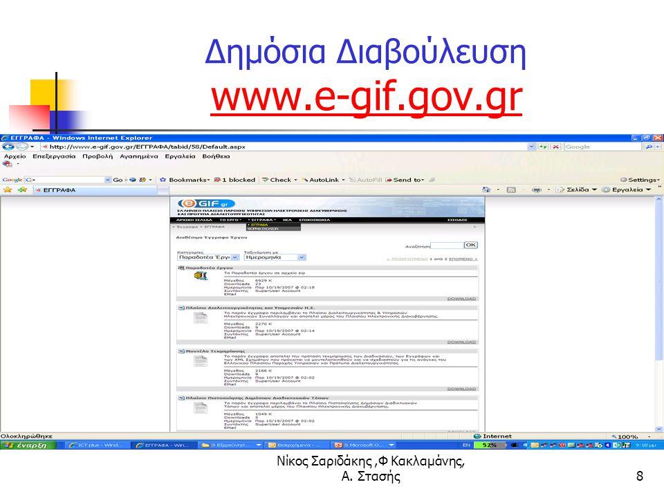 Δημόσια Διαβούλευση www.e-gif.gov.gr