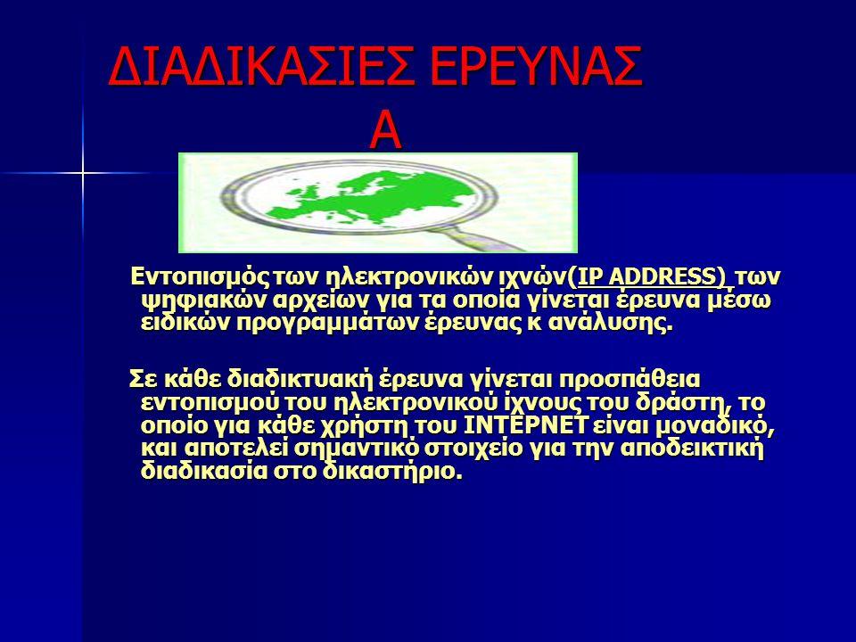 ΔΙΑΔΙΚΑΣΙΕΣ ΕΡΕΥΝΑΣ Α
