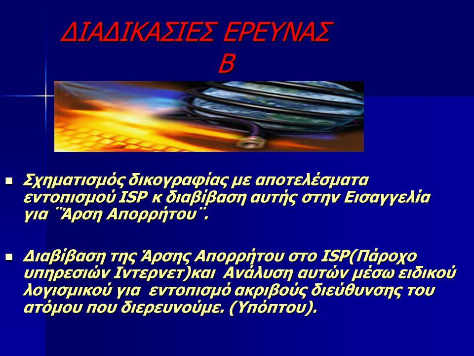 ΔΙΑΔΙΚΑΣΙΕΣ ΕΡΕΥΝΑΣ Β