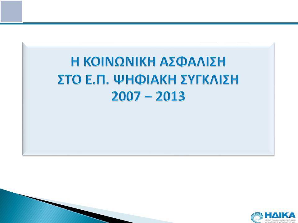 Η ΚΟΙΝΩΝΙΚΗ ΑΣΦΑΛΙΣΗ ΣΤΟ Ε.Π. ΨΗΦΙΑΚΗ ΣΥΓΚΛΙΣΗ 2007 – 2013
