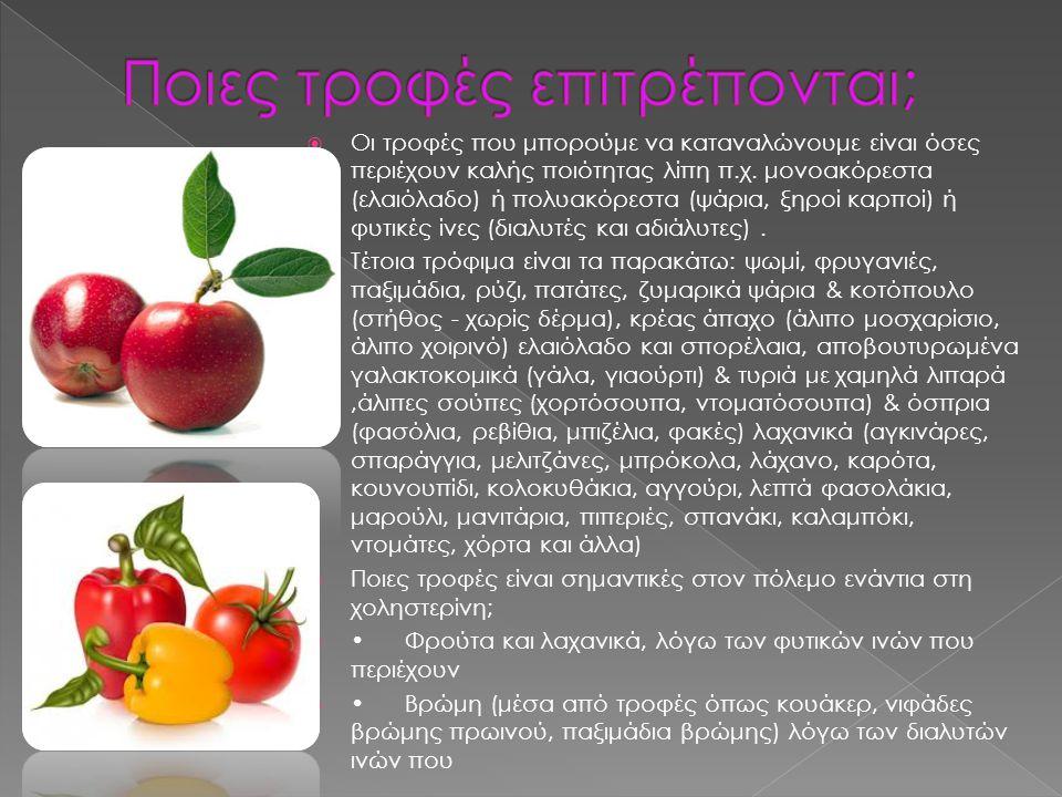 Ποιες τροφές επιτρέπονται;