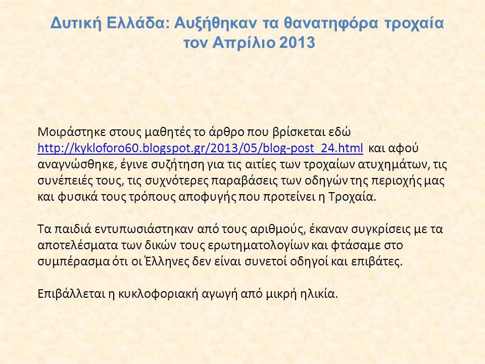 Δυτική Ελλάδα: Αυξήθηκαν τα θανατηφόρα τροχαία