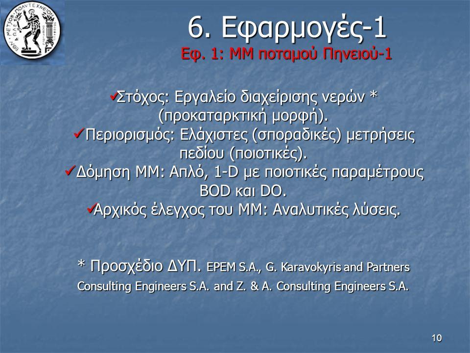 6. Εφαρμογές-1 Εφ. 1: ΜΜ ποταμού Πηνειού-1