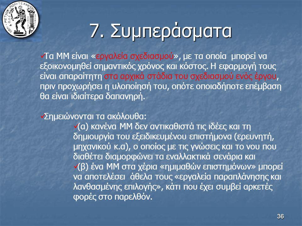 7. Συμπεράσματα
